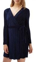 Topshop Women's Velvet Wrap Dress