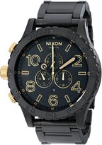 Nixon Men's NXA0831041 Chronograph Black Dial Watch