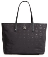 MCM Medium Anya Nylon Tote - Black