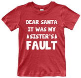 Urban Smalls Red 'Sister's Fault' Tee - Toddler & Boys