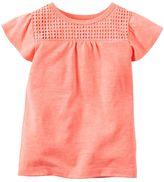 Carter's Baby Girl Crochet-Yoke Top