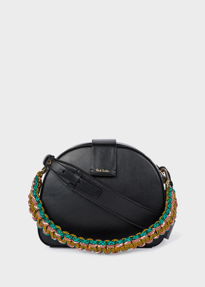Paul Smith Women's Black 'Climbing Rope' Leather Case Cross-Body Bag