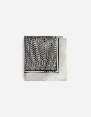 Dolce & Gabbana Silk Pocket Square With Tie Print
