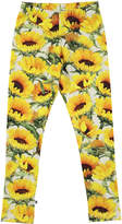 Molo Niki Sunflower Jersey Stretch Leggings, Size 2-10
