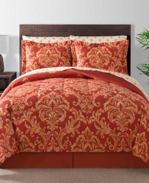 Fairfield Square Collection Golden Damask 8-Pc. Reversible King Comforter Set Bedding