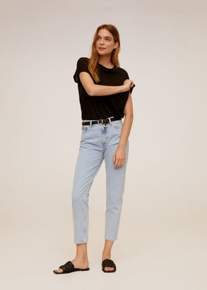 MANGO Mom-fit jeans light blue - 1 - Women