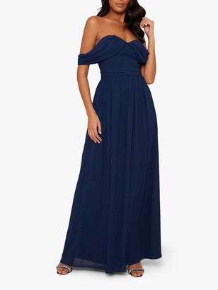 Chi Chi London Laine Dress, Navy