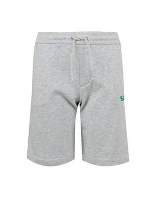 Armani Junior Side Logo Jersey Shorts Colour: GREY, Size: Age 6