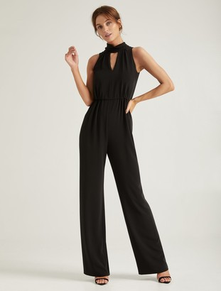 Halston Mock Neck Jumpsuit