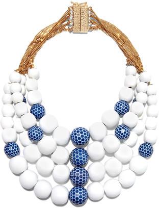 Rosantica Crans Gold-tone, Wood And Bead Necklace