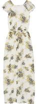Joie Astilbe Printed Silk-Georgette Maxi Dress