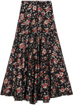 Isabel Marant Peace Metallic Floral-jacquard Maxi Skirt - Black