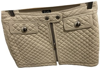 Dolce & Gabbana Beige Leather Skirt for Women