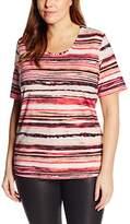 Via Appia Women's Kurzarm T-shirt Mit Rundhals Bedruckt Striped Short Sleeve T-Shirt,(Manufacturer Size: 50)