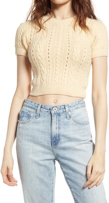 Free People Short & Sweet Crop Sweater