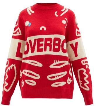 Charles Jeffrey Loverboy Logo-jacquard Wool-blend Sweater - Red Multi