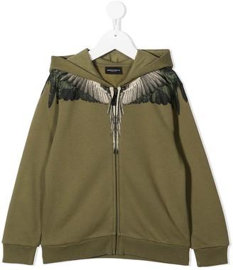 Marcelo Burlon County Of Milan Kids Wings-print zip-up hoodie