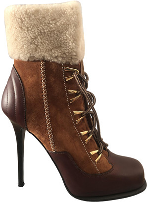 Gianmarco Lorenzi Brown Leather Boots