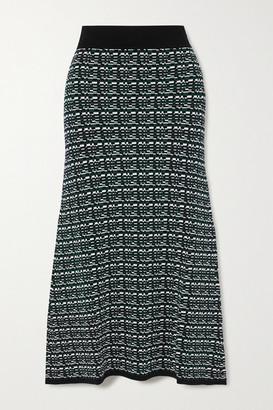 GAUCHERE Raquel Jacquard-knit Midi Skirt - Emerald