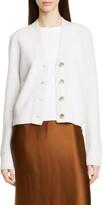 Vince Rib Knit Detail Sleeveless Linen Blend Top