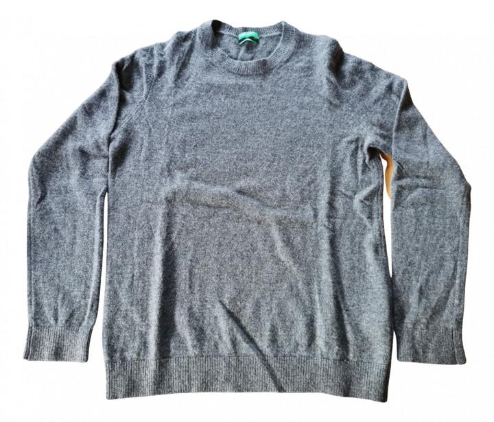 Benetton Grey Cashmere Knitwear