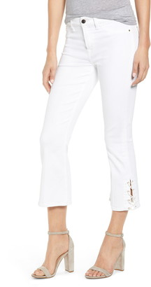 JEN7 by 7 For All Mankind Lace-Up Hem Crop Bootcut Jeans
