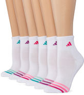 adidas 6pk Cushion Quarter Socks