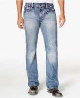 INC International Concepts Men's Mordern Bootcut Light Blue Wash Jeans, Created for Macy's