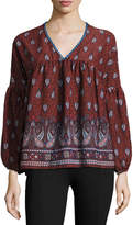 Romeo & Juliet Couture Paisley Bell-Sleeve Top, Multi