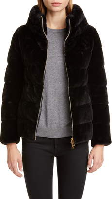 Herno Quilted Down Faux Fur Puffer Jacket