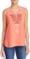 Nic+Zoe Lovely Lei Embroidered Tank