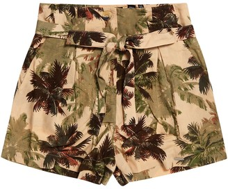 Superdry Tropical Print Shorts with Tie Belt