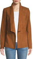 Veronica Beard Marten Open-Front Suede Jacket
