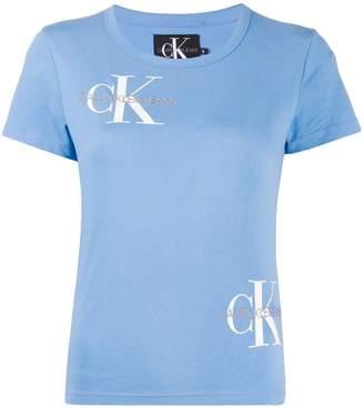 Calvin Klein Jeans multi-logo crew-neck T-shirt