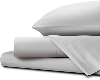 Homestead UK Single Classic Percale Sheet Set - Glacier Gray