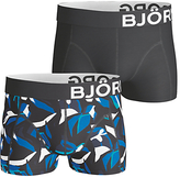 Bjorn Borg Graphic Print Short Trunks, Pack Of 2, Black
