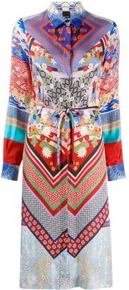 Pinko Floral-Print Midi Shirt Dress