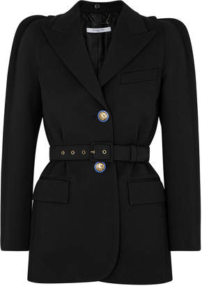 Givenchy Black Belted Wool-blend Blazer