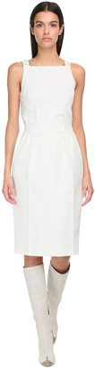Max Mara Open Back Cotton Twill Dress