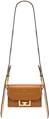 Givenchy Nano Eden Leather Contrasted Details Bag in Pony Brown | FWRD