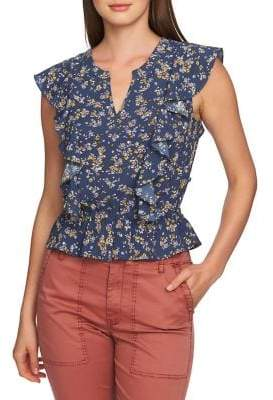 1 STATE 1.STATE Floral Sleevelss Blouse
