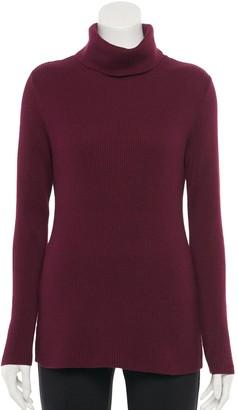 Croft & Barrow Women's Ribbed Turtleneck Sweater