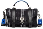 Proenza Schouler Medium Ps1 Print Nylon Satchel - Black