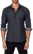 Jared Lang Men's Trim Fit Paisley Sport Shirt