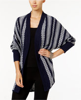 Lucky Brand Patterned Lounge Sweater Wrap