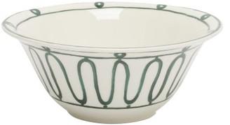 Themis Z - Kyma Porcelain Salad Bowl - Green White