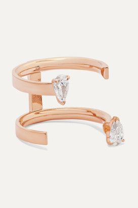 Repossi Serti Sur Vide 18-karat Rose Gold Diamond Ring - 53