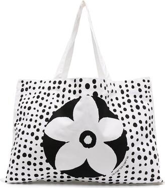 10 Corso Como Floral Polka-Dot Print Tote Bag