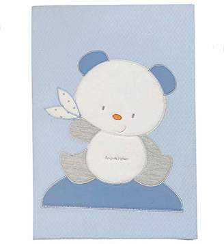 Andy & Helen 2/4470cd03 _ C Embroidered Cot Cotton Blanket, Sky Blue