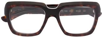 Emmanuelle Khanh Tortoiseshell Square Glasses